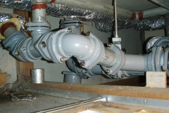 天井内排水管取替