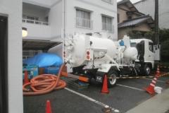 老朽排水管のFRP更生工事
